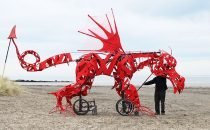 Welsh Dragon on the beach