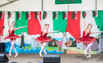 Photo of dancers performing on stage at Croese Swansea